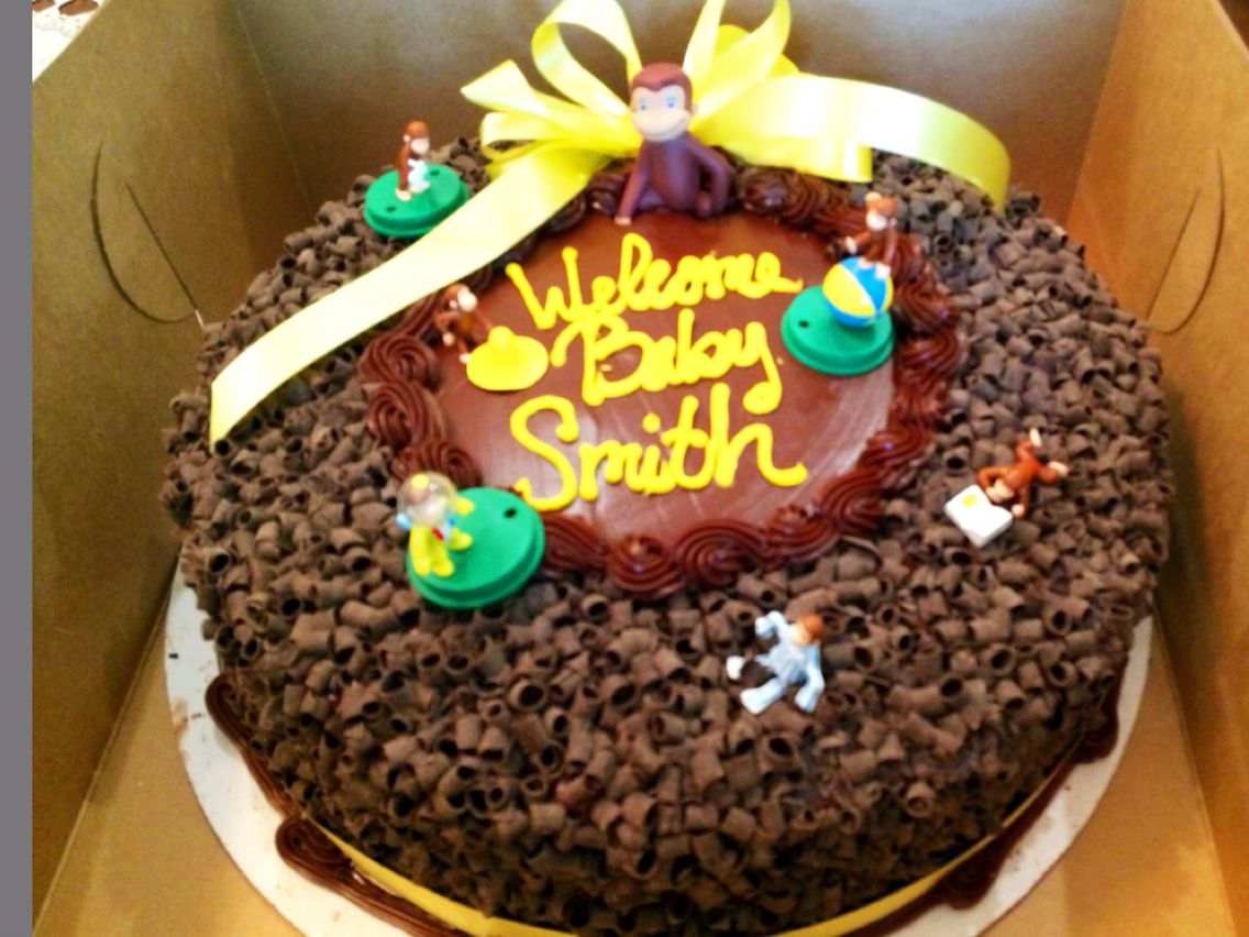 Stupendous Chocolate Ribbon Cake From Stater Bros Bakery Bought The Curious Funny Birthday Cards Online Drosicarndamsfinfo