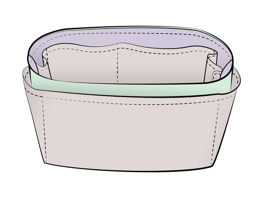 Free Sewing Pattern For Purse Organizer Insert Diy Instructions Included
