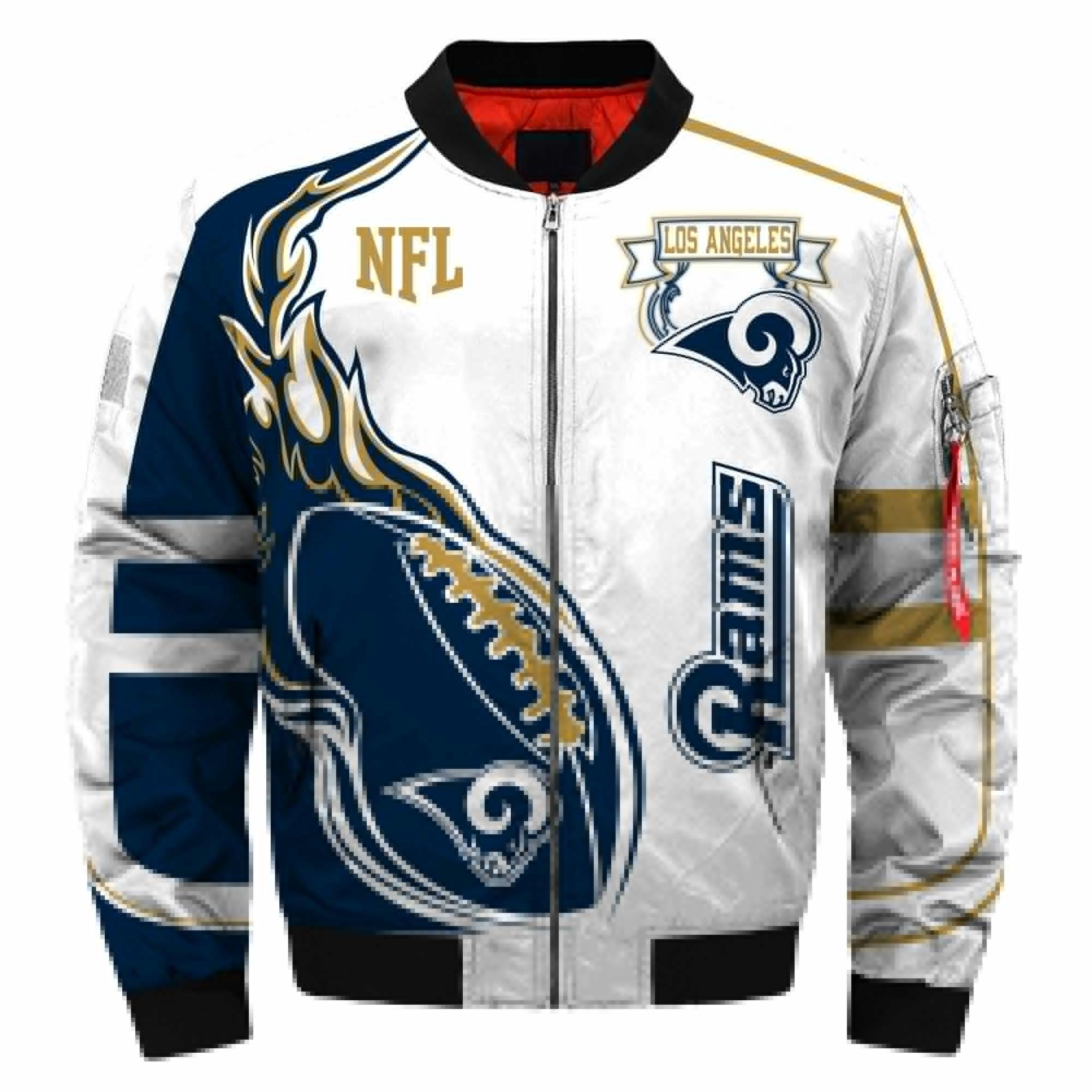 Los Angeles Rams Bomber Jacket Men Women CottonPadded Air