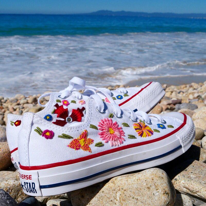 zapatillas converse flores