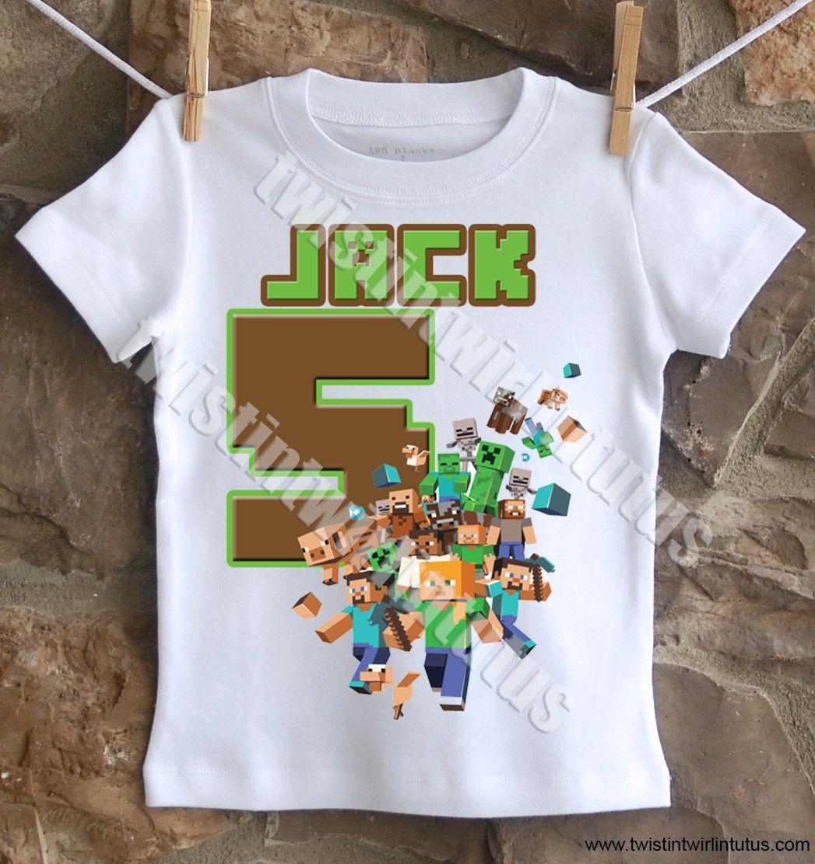 51675dd1 Minecraft Birthday Shirt | Minecraft Family Shirts | Minecraft Birthday  Shirt | Minecraft Birthday Party Ideas | Minecraft Party | Birthday Party  Ideas for ...
