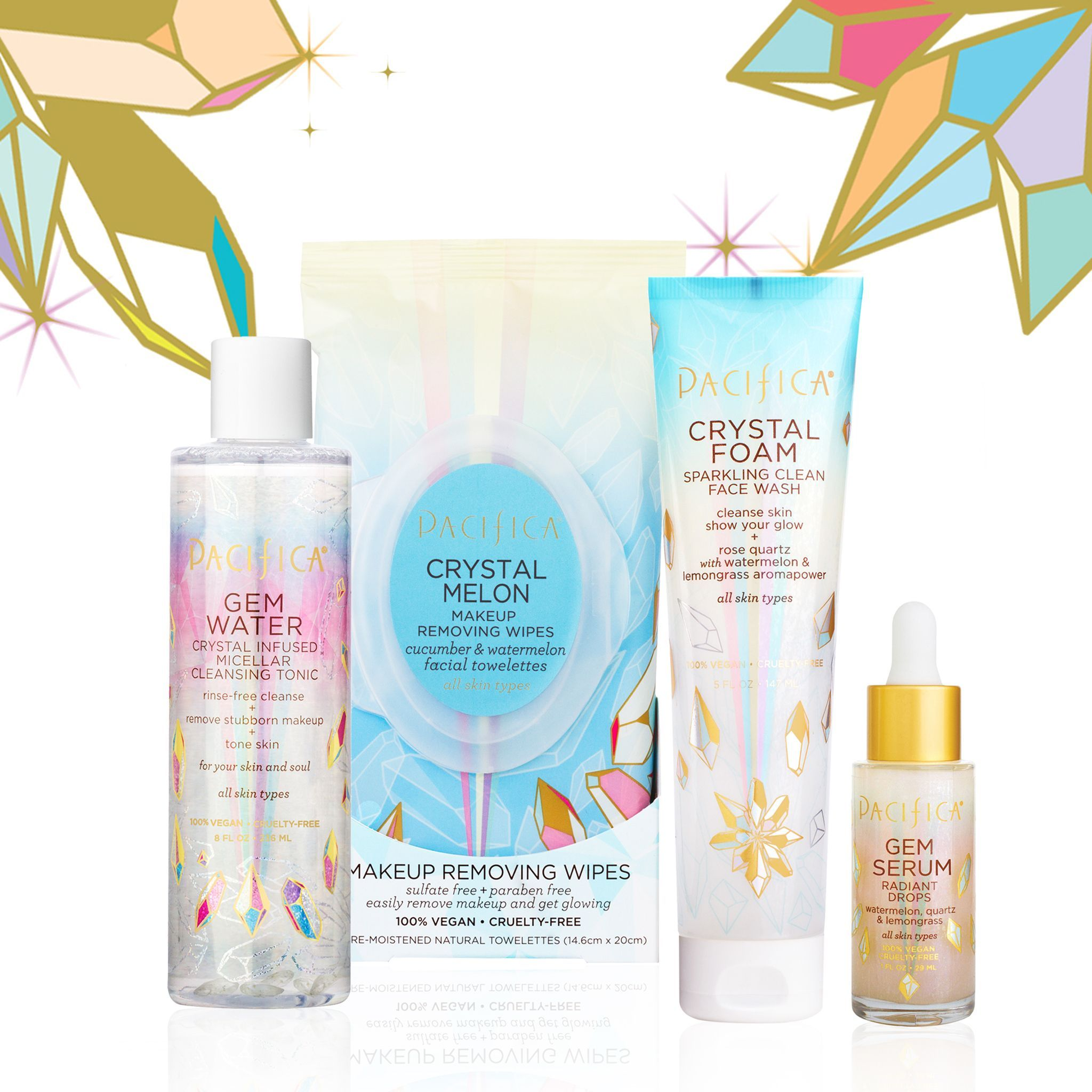 Pacifica Crystal Foam Sparkling Clean Face Wash In 2020 Clean Face Wash Face Wash Cleanser Face Products Skincare