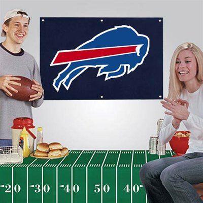 Buffalo Bills Banner & Tablecloth 2-Piece Football Party Kit