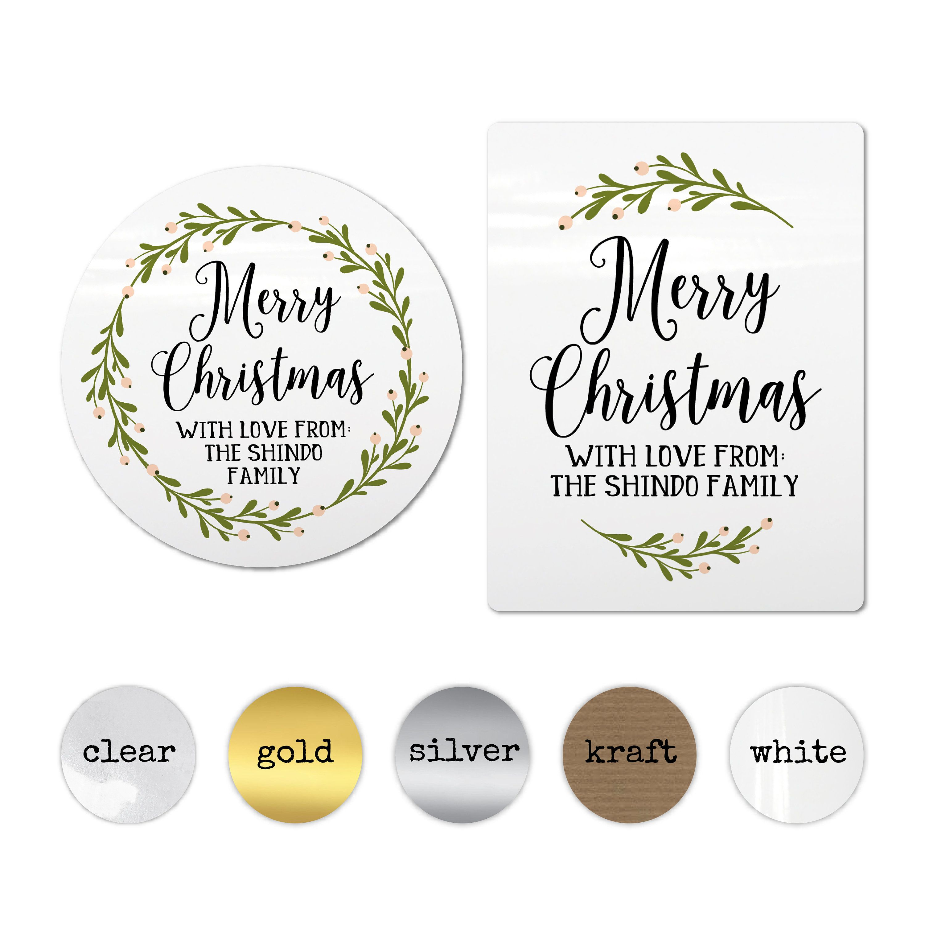 Custom Stickers Personalized Christmas