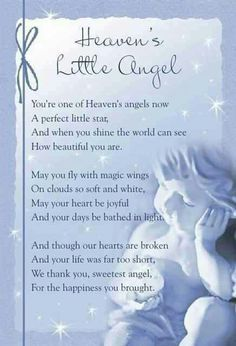 Baby Angel Poems Rip | Angels In Heaven Quotes Like. mummys little