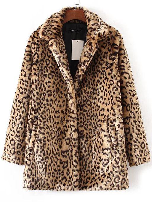 d509897a0ee2 Shop Leopard Button Up Faux Fur Coat online. SheIn offers Leopard Button Up Faux  Fur Coat   more to fit your fashionable needs.