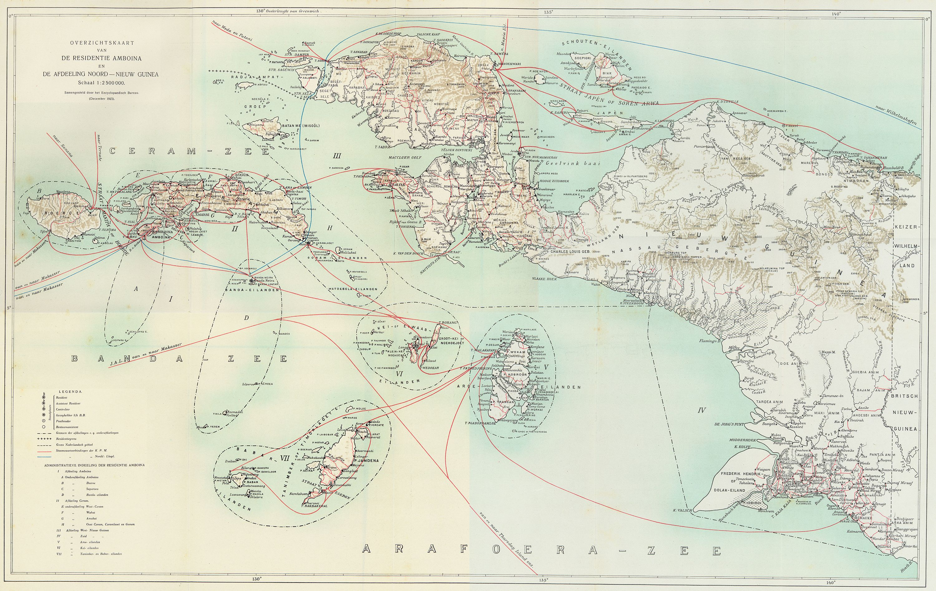 Beautiful map of Dutch West Papua (1916) | MAPS | Map, West