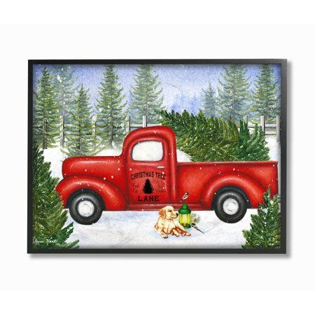 Christmas Commercials With Dogs And Trucks 2020 The Stupell Home Decor Collection Holiday Christmas Tree Lane Red