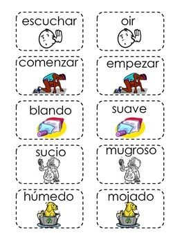 This Is A Memory Card Game For Synonyms In Spanish Has 25 Pairs Each Card H Kindergarten Graduation Songs Spanish Teaching Resources Play Therapy Techniques