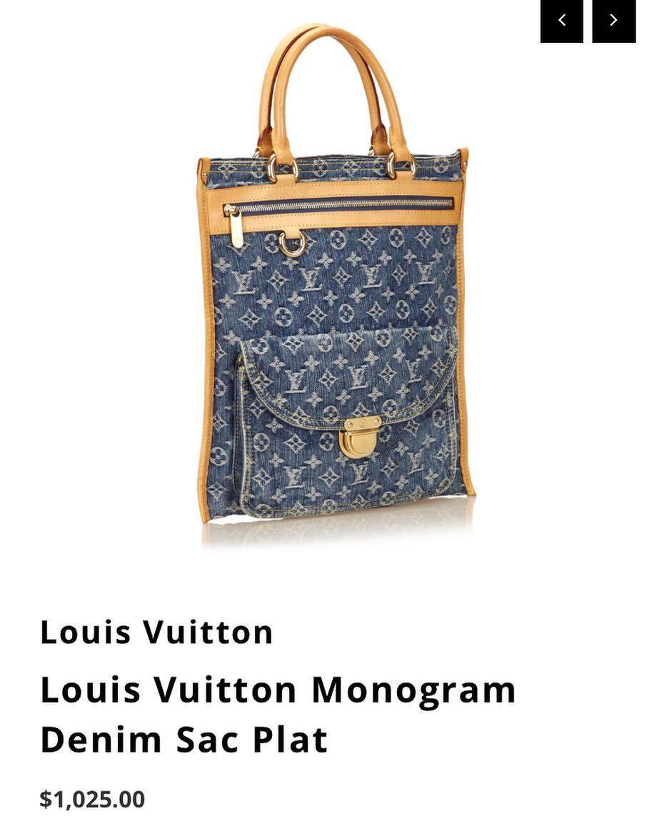bc100f11548e Coveted Louis Vuitton denim Sac Plat.  summer  love  labconsignment   louisvuitton  luxuryresale