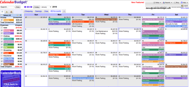 using calendarbudget to manage bills and your budget for free