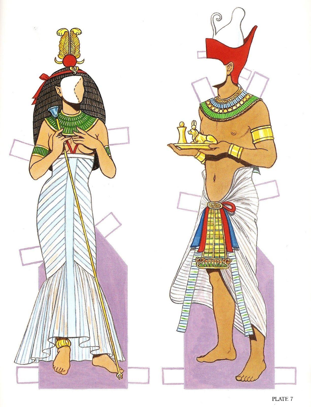 Ancient Egypt Clothing   Ancient Egypt   Gabi's Paper Dolls