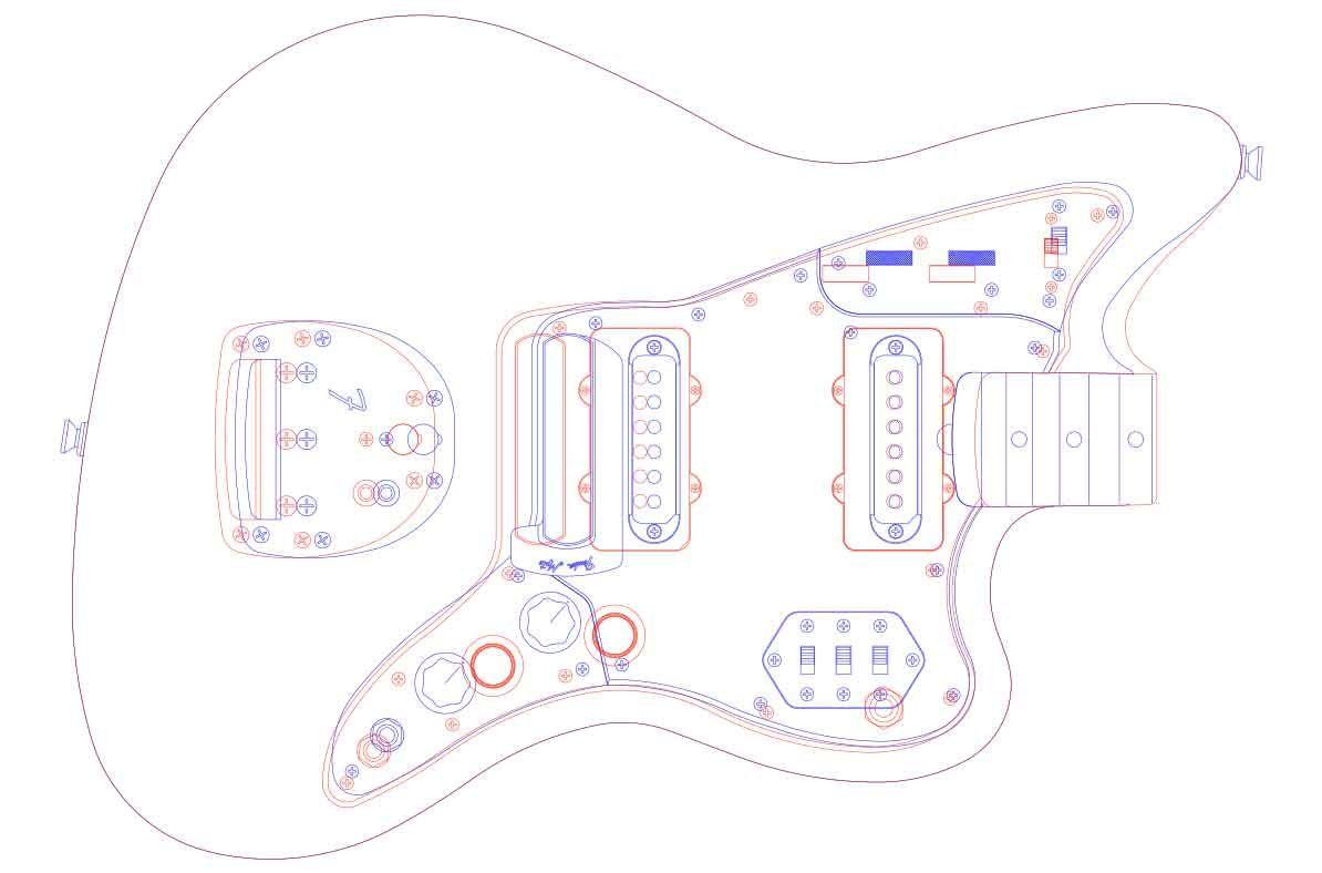 fender jazzmaster guitar templates electric herald [ 1194 x 788 Pixel ]