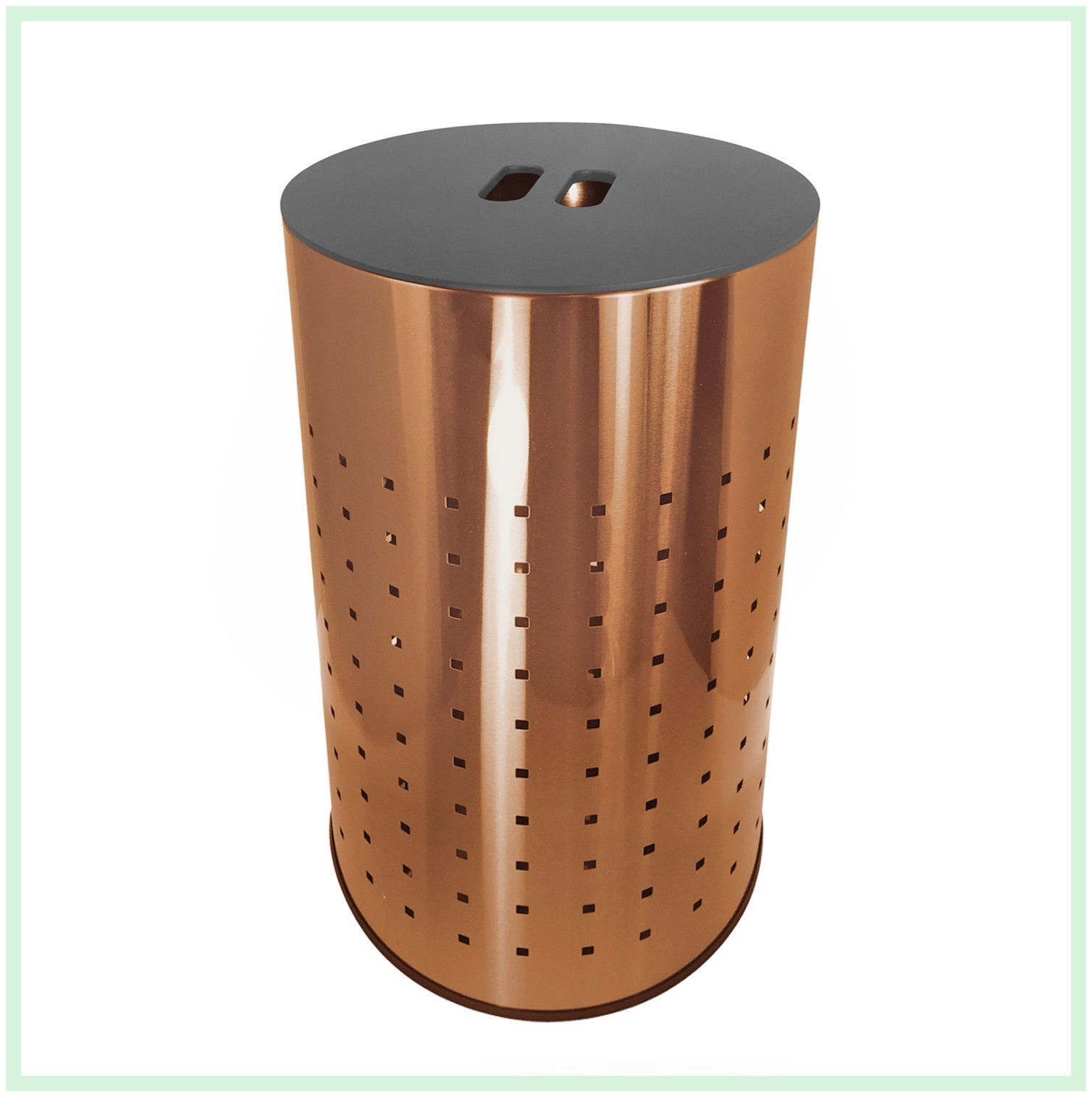 Brushed Copper Laundry Bin Hamper 50l Ventilated Stainless  # Muebles Ultramodernos