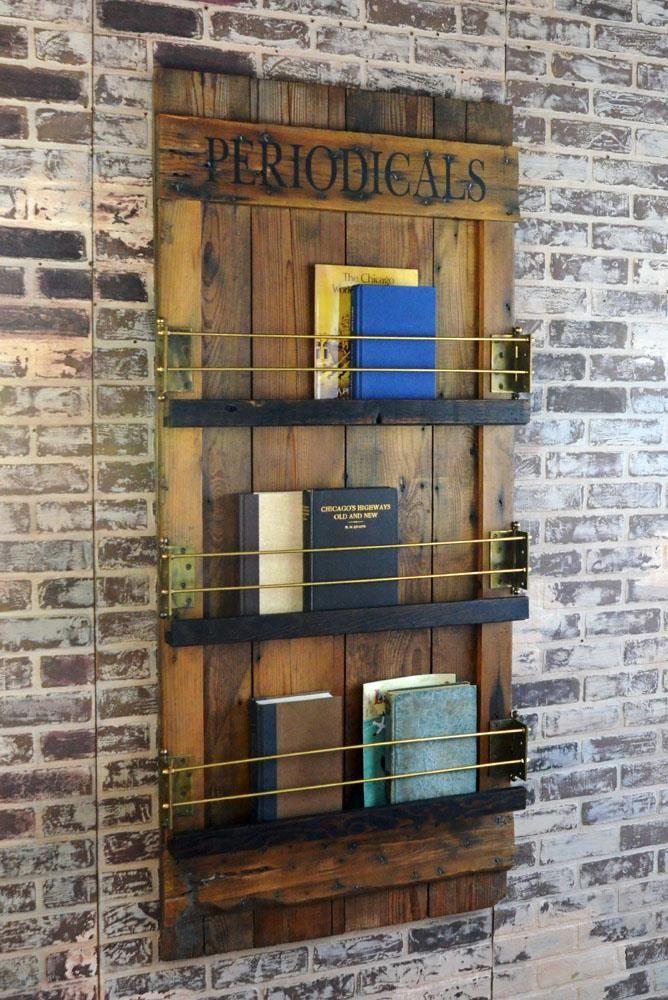 unique barn door wall mounted bookshelf and magazine rack on wall mount bookshelf id=70545