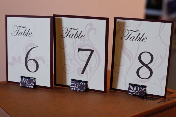 DIY Table Numbers And Stands Wedding Swirls Vines MG 1283 Used Binder Clips To Hold Up The