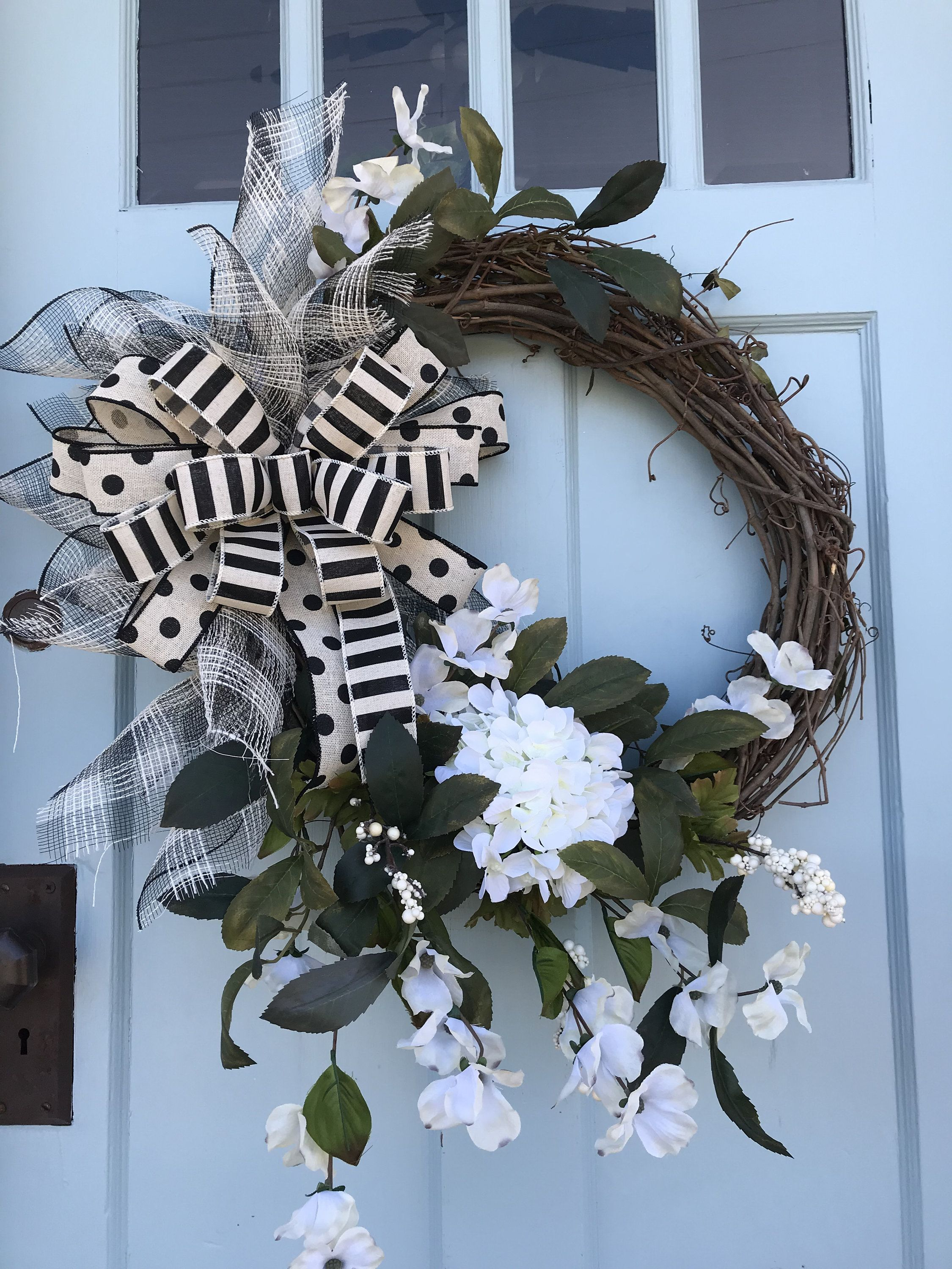 Beautifully Elegant White Floral Grapevine Wreath For Door Wreaths Wreaths For Front Door Farmhouse Christmas Deco Wreaths