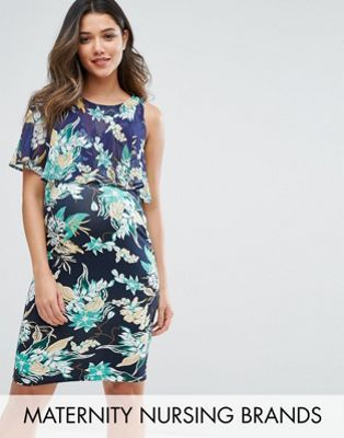 9c1a8a1645b Gebe Maternity Nursing Printed Double Layer Dress   my asos: dresses ...