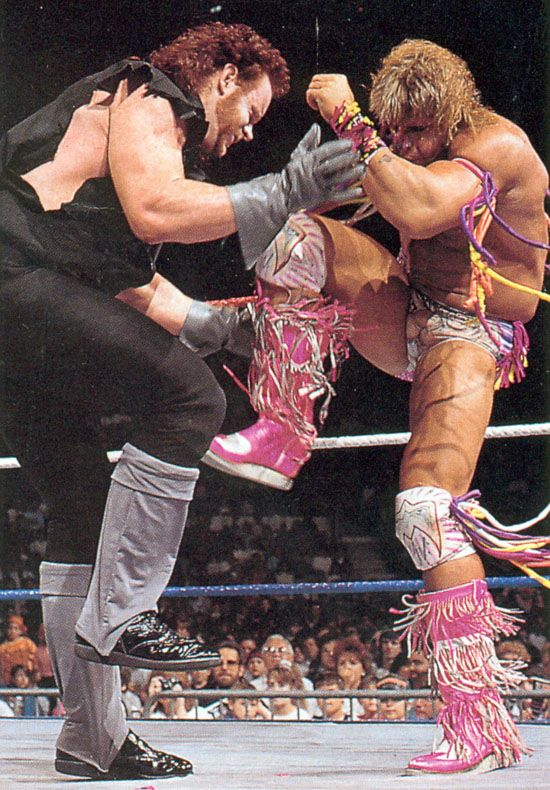 The Undertaker Vs The Ultimate Warrior With Images Undertaker