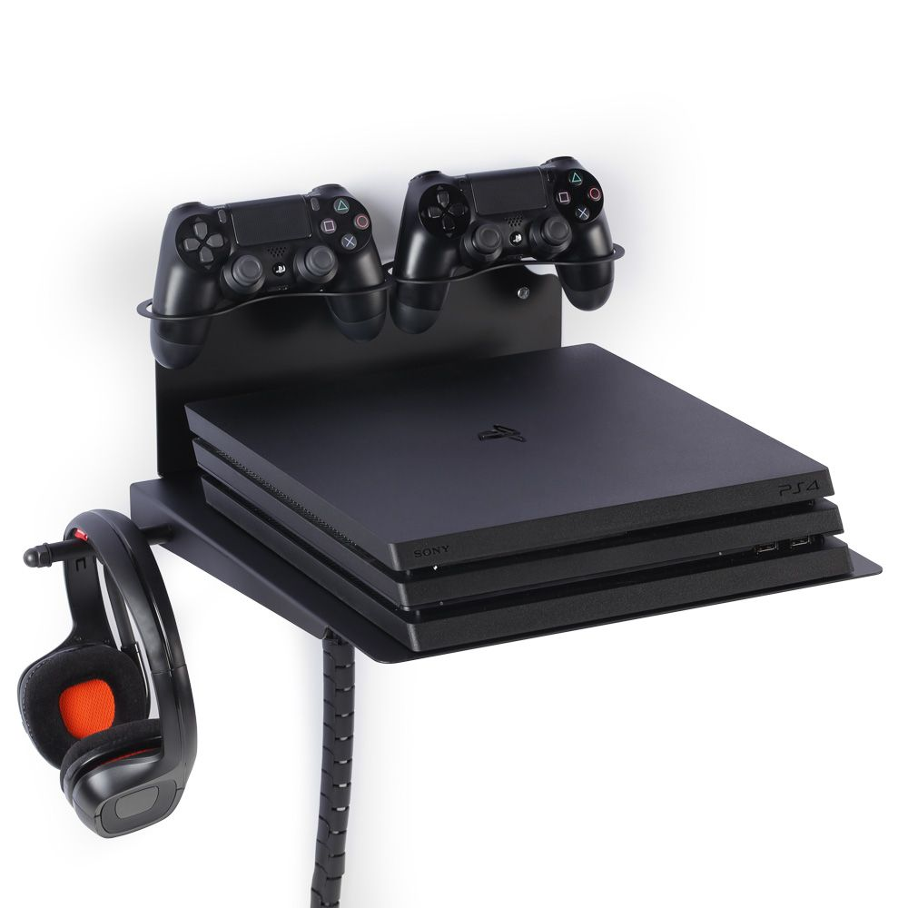 The Perfect Mount For Your Videogame Passion Ps4 Xbox Wall Mount Horizontal Playstation Wall Shelf W Silent Cooling Fan 2 Playstation Ps4 Wall Mount Xbox