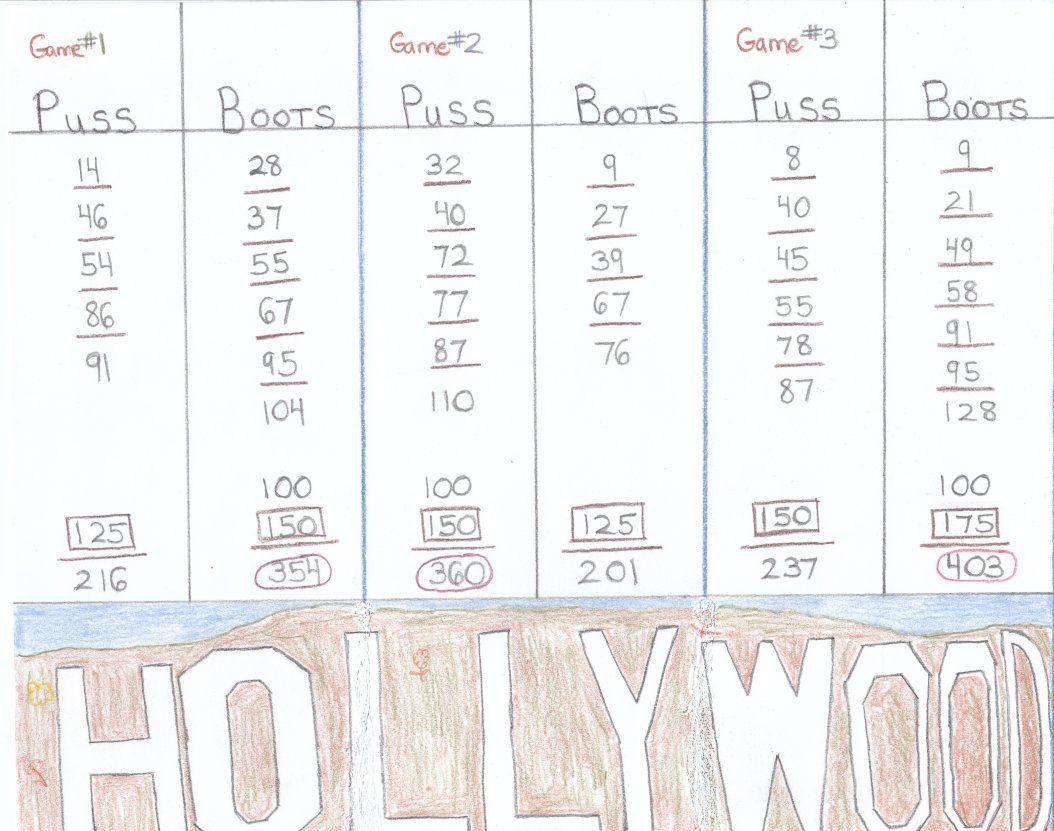 Sample Score Sheet For Hollywood Gin Rummy Gin Rummy Rummy Gin