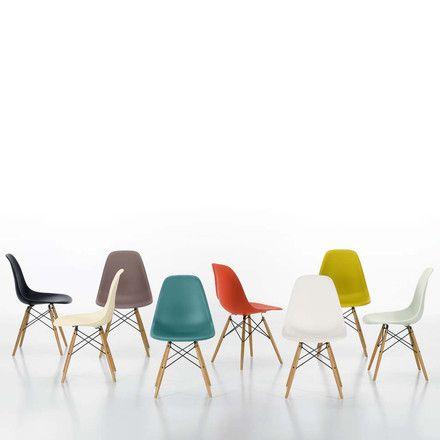 Vitra - Eames Plastic Side Chair DSW (H 43 cm), Ahorn gelblich - esszimmer 1950