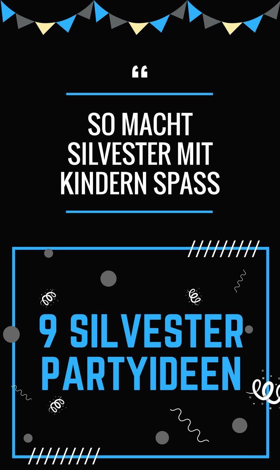 Silvester feiern mit Kindern: 9 Ideen für die Party Zuhause ...