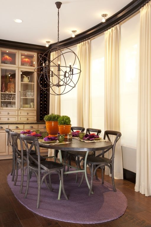Vibrant Transitional Family Home Kitchen Dining Room Robeson Design ...