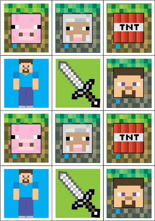Minecraft stickers printable themed printables for cakes for Minecraft bookmark template