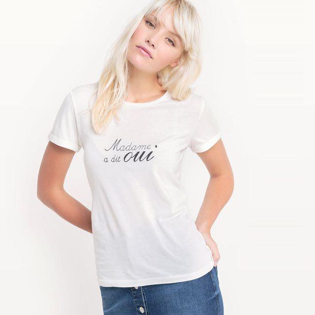 Tee shirt col rond en coton La Redoute Collections | La Redoute