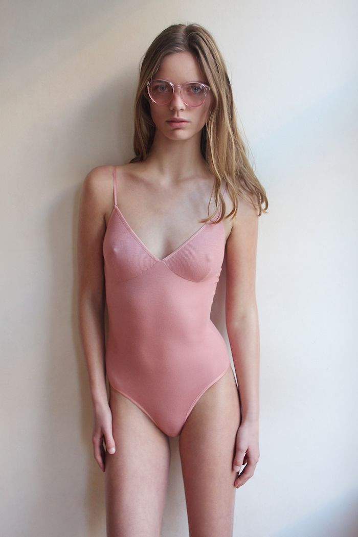Babes In Leotards Danique Blaauwendraad Pink Leo 70s Shades