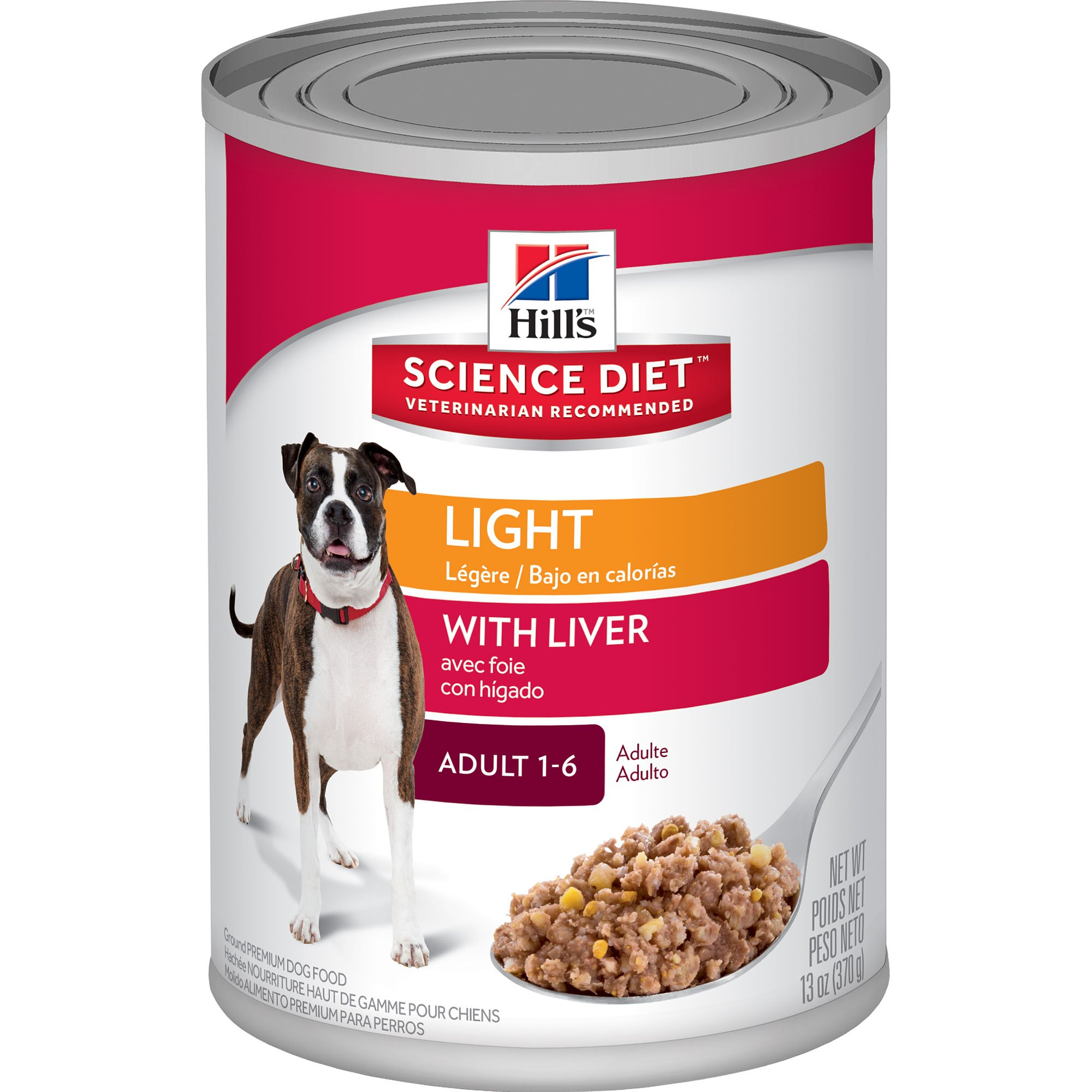 Hill S Science Diet Adult Light With Liver Canned Dog Food 13 Oz