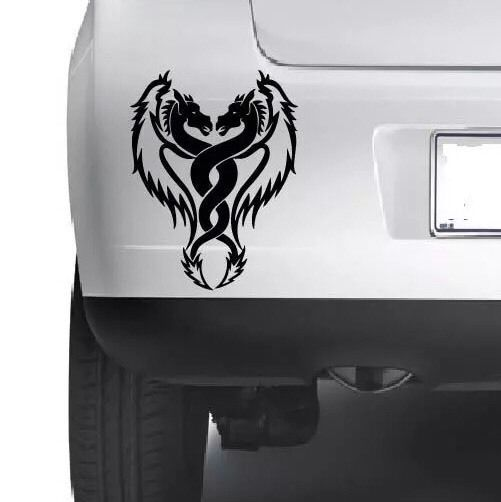 Twin dragon car window bumper car body wall xbox laptop vinyl decal sticker