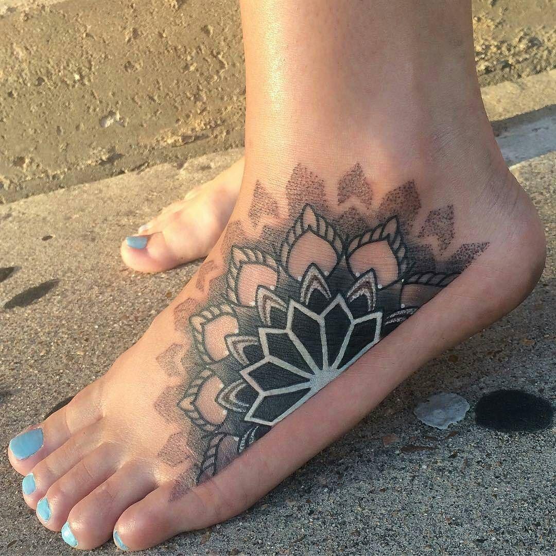 Cover Up Mandala Tattoo By Jonwesttattoo At Imperialtattoocompany In Sugarland Tx Jonwesttattoo Jonwest Im Foot Tattoos Cover Up Tattoos For Women Tattoos