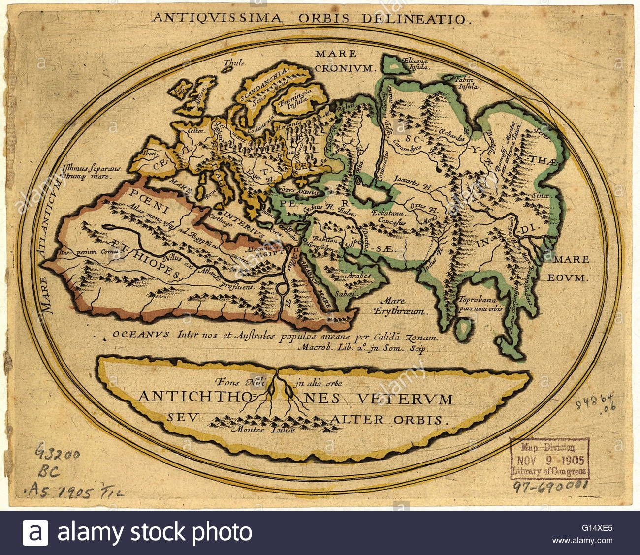Map of the old world with latin text the title is antiquissima orbis map of the old world with latin text gumiabroncs Images