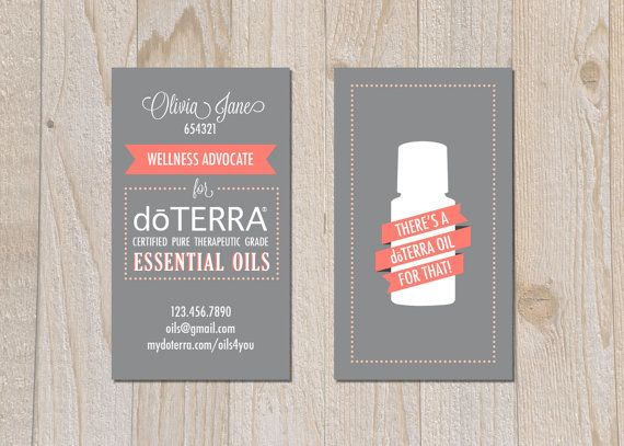 Brand DoTERRA Business Cards Digital File By Pipeup On Etsy - Doterra business card template