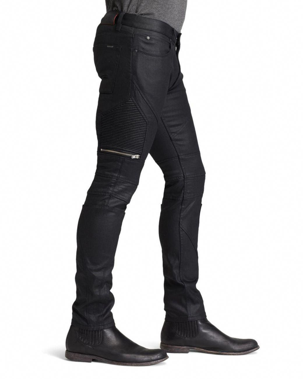 7d9a3dd652d Lyst - HUGO Jeans - 45 Moto Slim Fit In Black in Black for Men ...