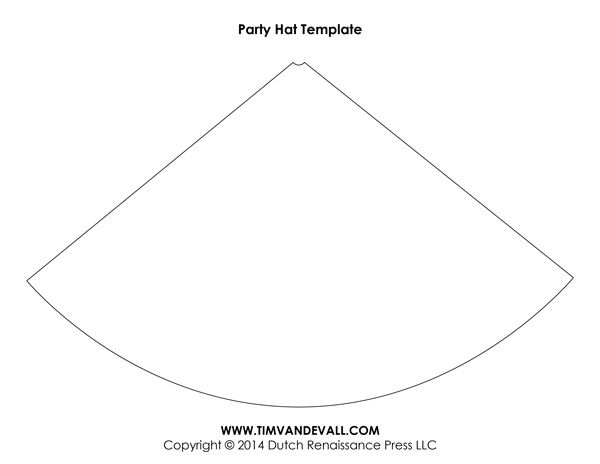 Blank Birthday Party Hat Template