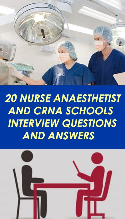 Nurse Anesthetist Interview Questions. Certified Registered Nurse Anesthetist and CRNA Job Interview Questions