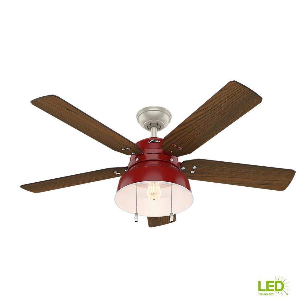 Hunter Mill Valley 52 In Led Indoor Outdoor Matte Silver Ceiling