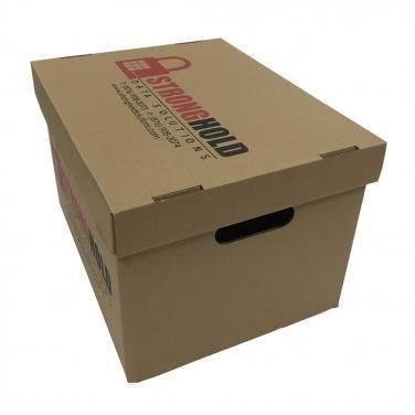 Custom size corrugated archive paper box custompackaging