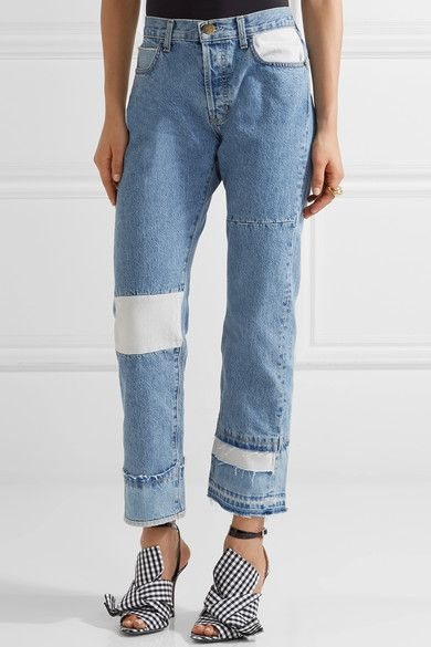 The Diy Patchwork High-rise Straight-leg Jeans - Blue Current Elliott Cheap Discount Sale Discount Cheapest Price Sale Fast Delivery Reliable Sale Online Manchester Great Sale Online yNwidG8AY