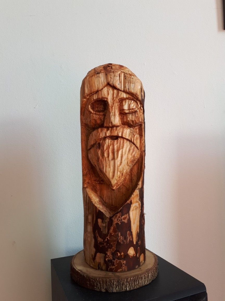 Self Made Odin Statue Woodwork Viking Norse Wood Diy