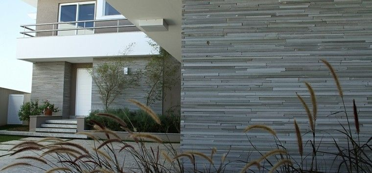 Revestimiento de paredes exteriores 50 ideas revestimientos modernos para exteriores Revestimientos para fachadas