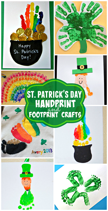 52861bc758 St. Patrick s Day handprint and footprint crafts for kids
