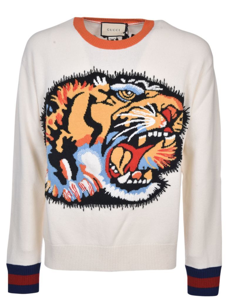 e9014c5fef1 GUCCI Gucci Tiger Intarsia Knitted Jumper.  gucci  cloth