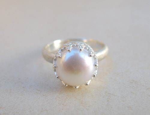 pearl wedding ring sets google search - Pearl Wedding Ring Sets