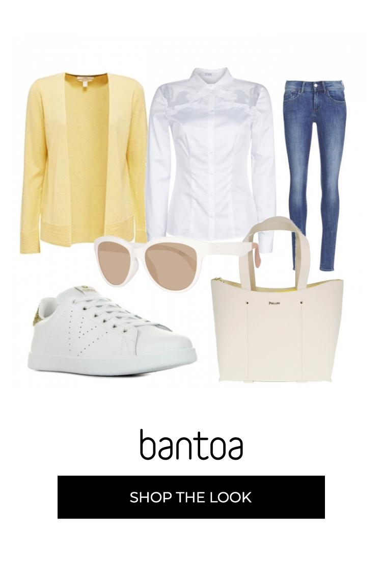 Composizione dell'outfit: Shopper e shopping bag Pollini