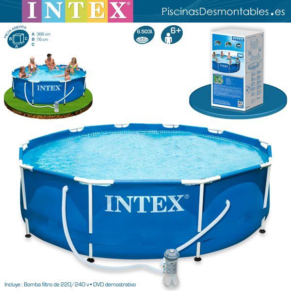 Piscina intex circular serie metal frame la estructura for Que piscina puedo poner en una terraza