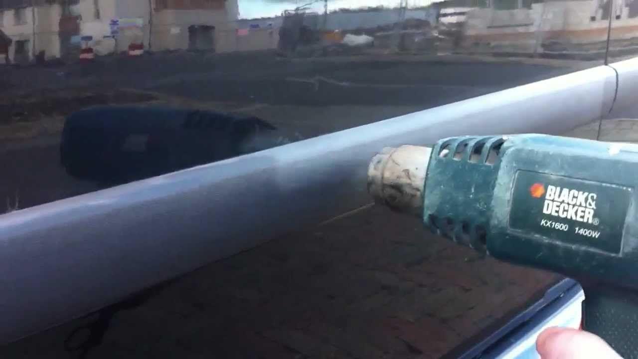 How to restore car vehicle faded plastic trim using a heat gun fix